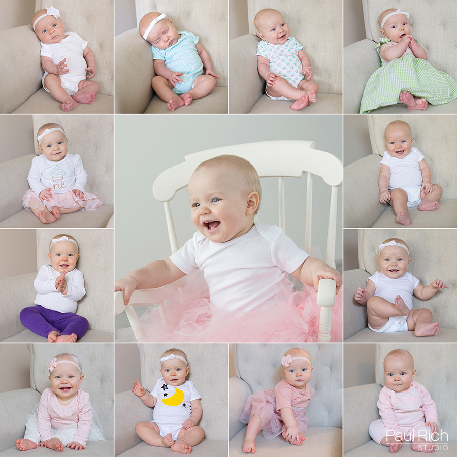 Newborn baby captured every month for a year by Portland portrait photographer Paul Rich Studio